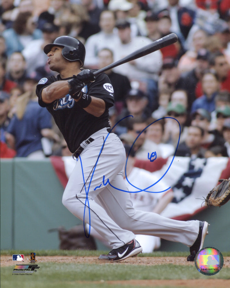 Vernon Wells Autographed Toronto Blue Jays 8x10 Photo PSM-Powers Sports Memorabilia