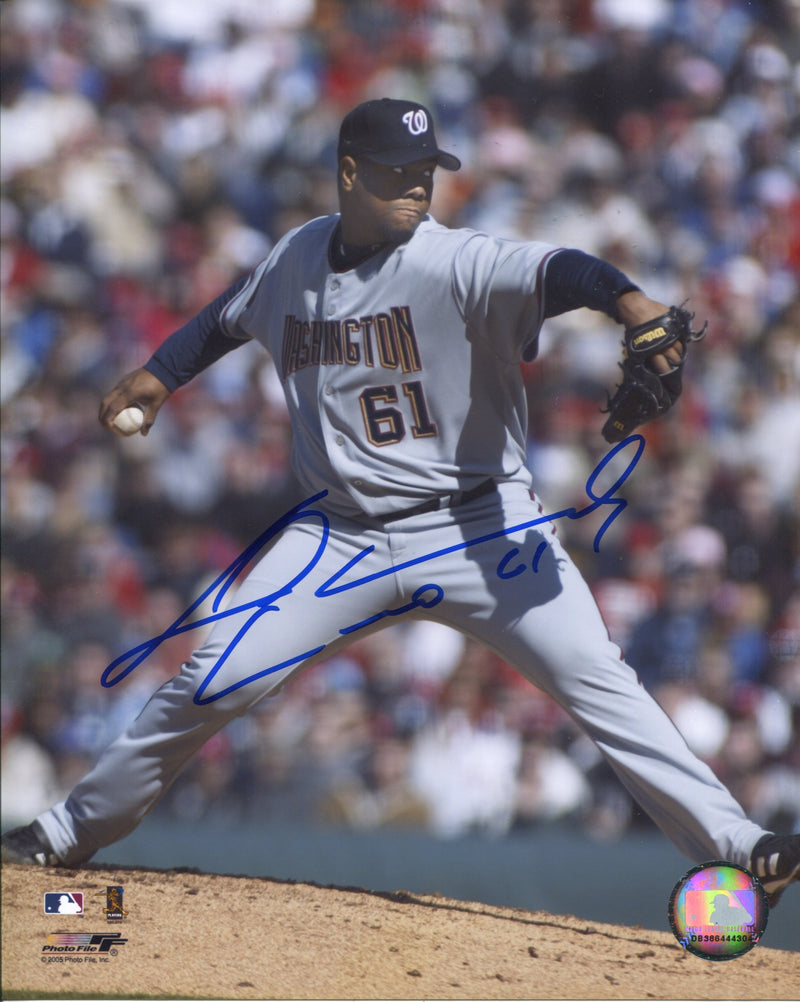 Livan Hernandez Autographed Washington Nationals 8x10 Photo PSM-Powers Sports Memorabilia