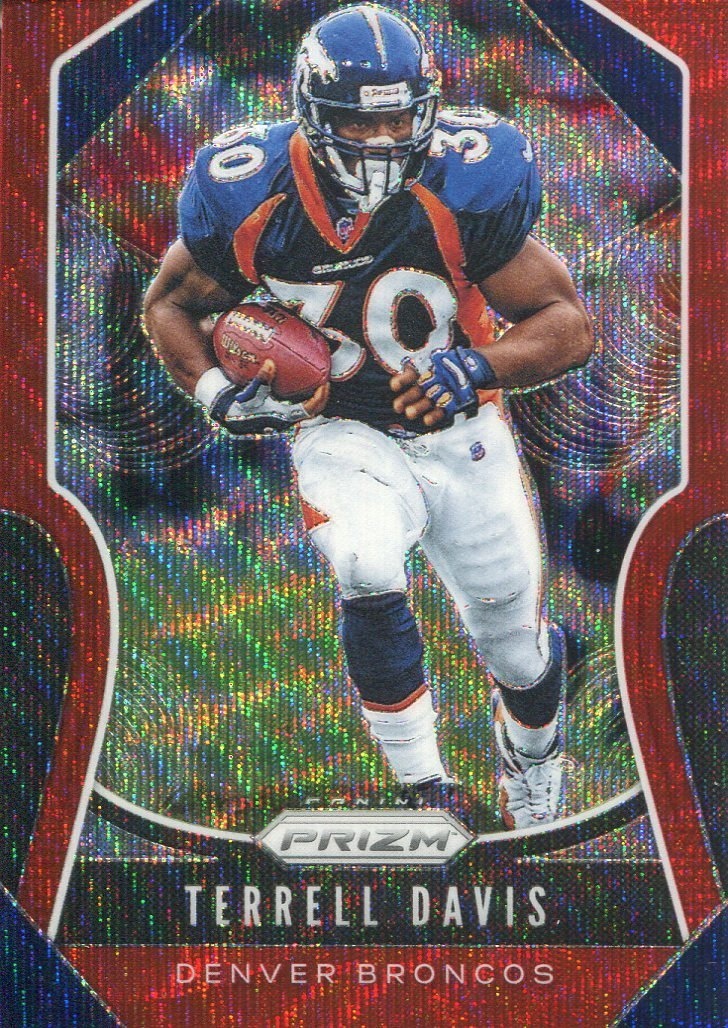 Terrell Davis 2019 Panini Prizm Red Wave Card 144/149 PSM-Powers Sports Memorabilia