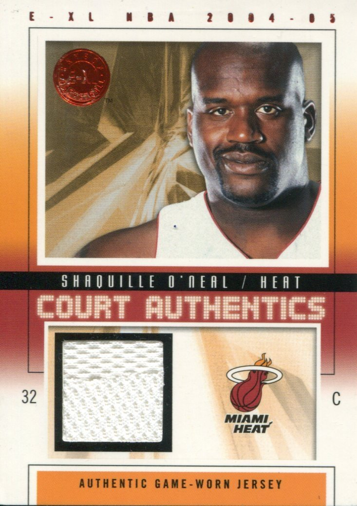 Shaquille O'Neal 2004 Fleer Court Authentics Game Used Jersey Card PSM-Powers Sports Memorabilia