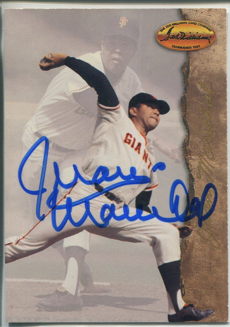 Juan Marichal Autographed 1994 Ted Williams Company Card #54 PSM-Powers Sports Memorabilia