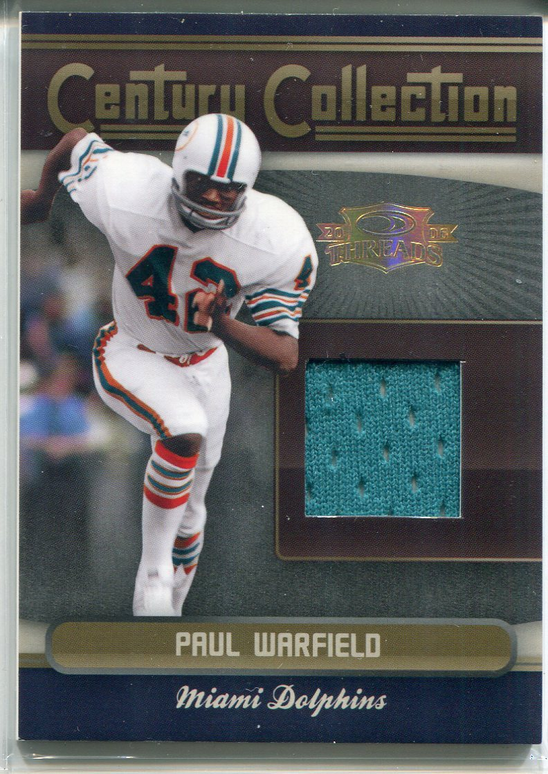 Paul Warfield 2005 Donruss Playoff Threads Jersey Card PSM-Powers Sports Memorabilia