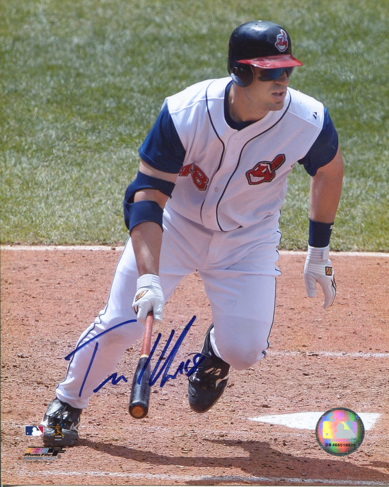 Travis Hafner Autographed Cleveland Indians 8x10 Photo PSM-Powers Sports Memorabilia