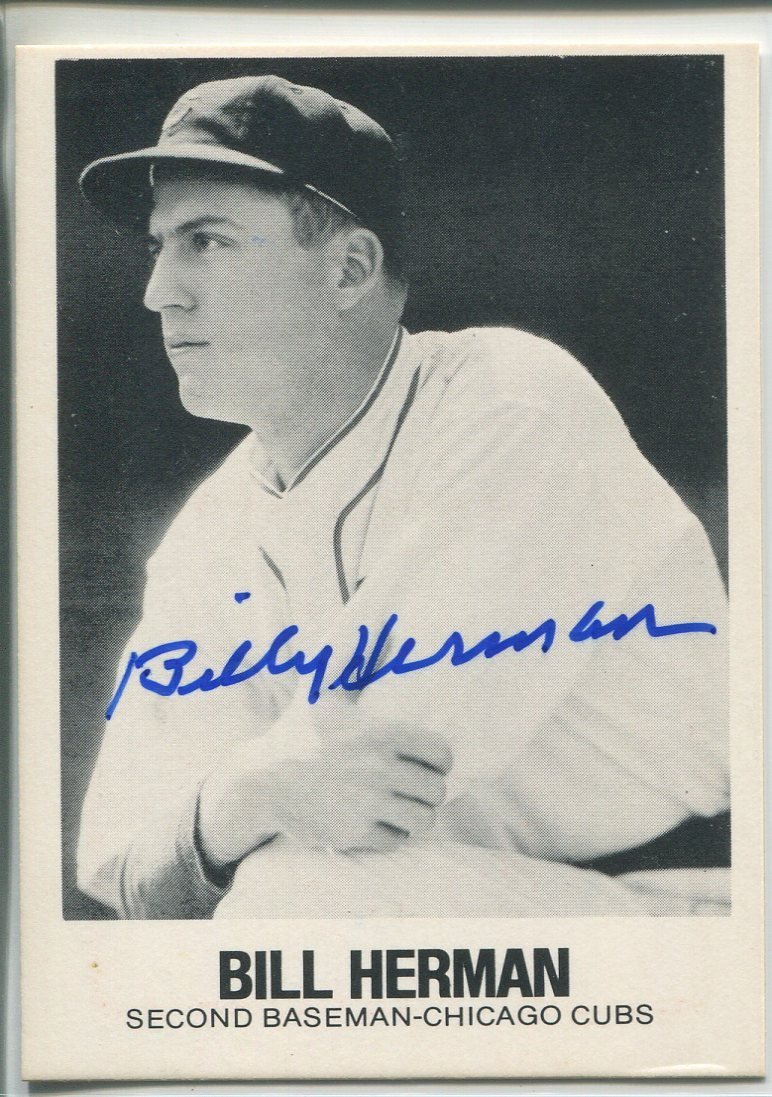 Billy Herman Autographed 1979 TCMA Card #84 PSM-Powers Sports Memorabilia