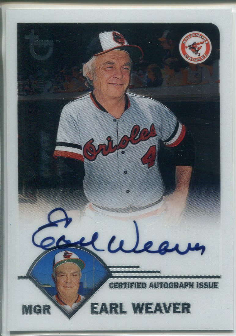 Earl Weaver Autographed 2003 Topps Archives Card PSM-Powers Sports Memorabilia