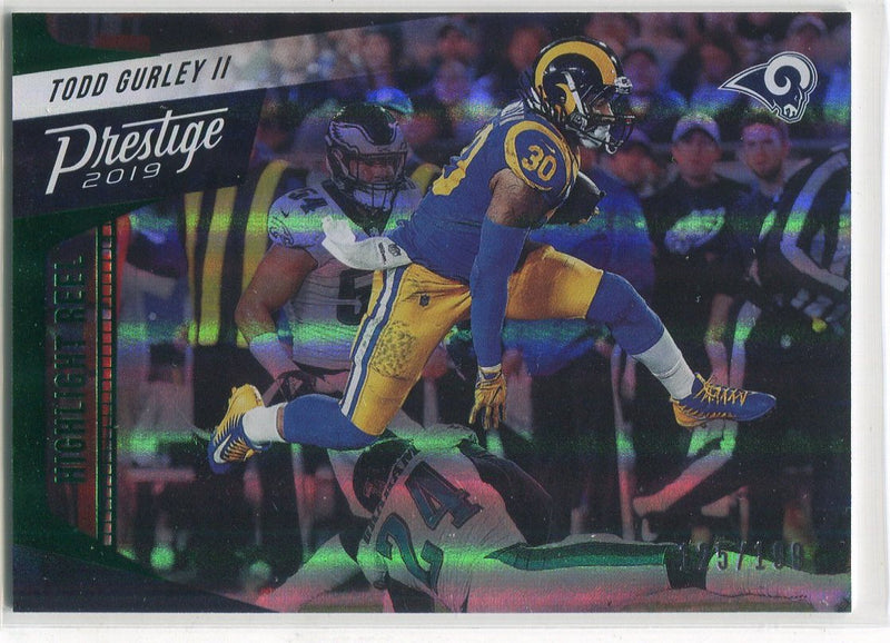 Todd Gurley 2019 Panini Prestige Highlight Reel Insert Card PSM-Powers Sports Memorabilia