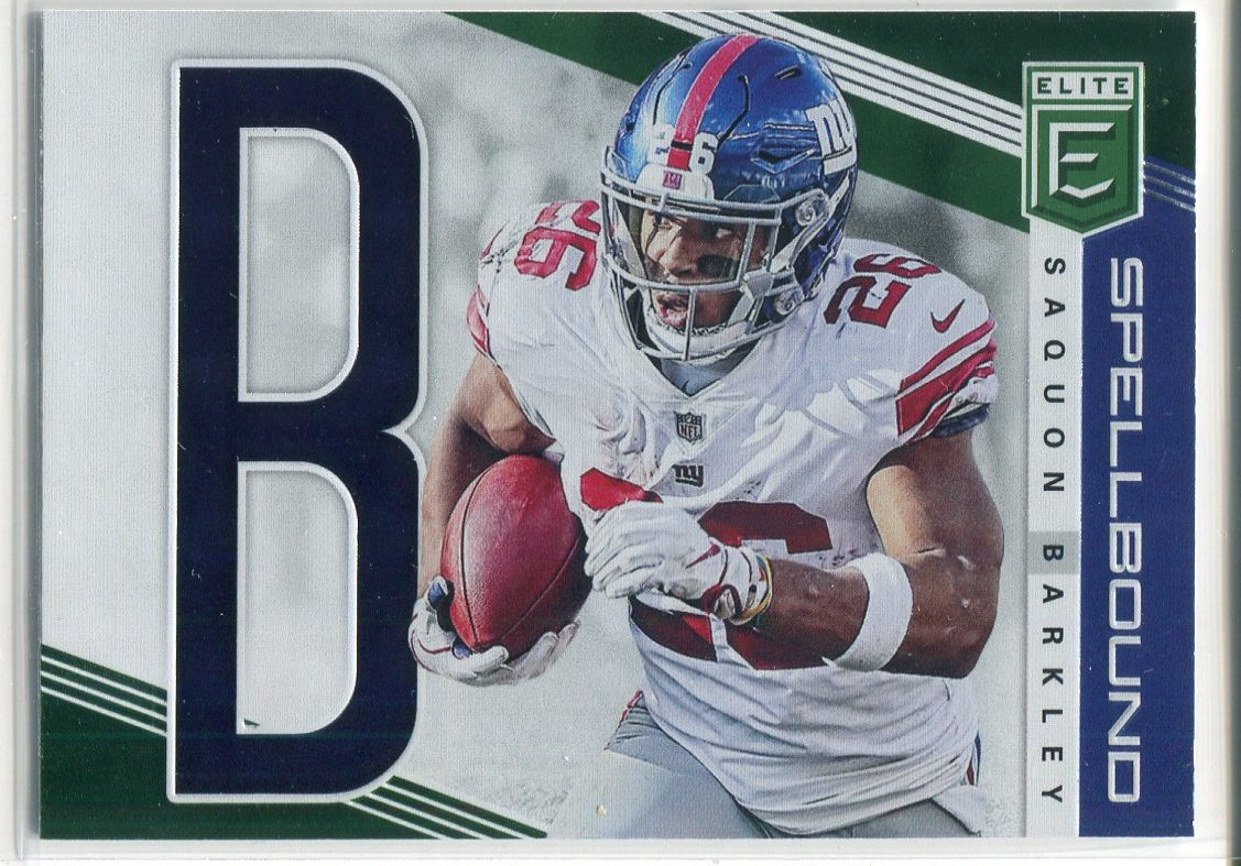 Saquon Barkley 2019 Panini Donruss Elite Spellbound Insert Card PSM-Powers Sports Memorabilia