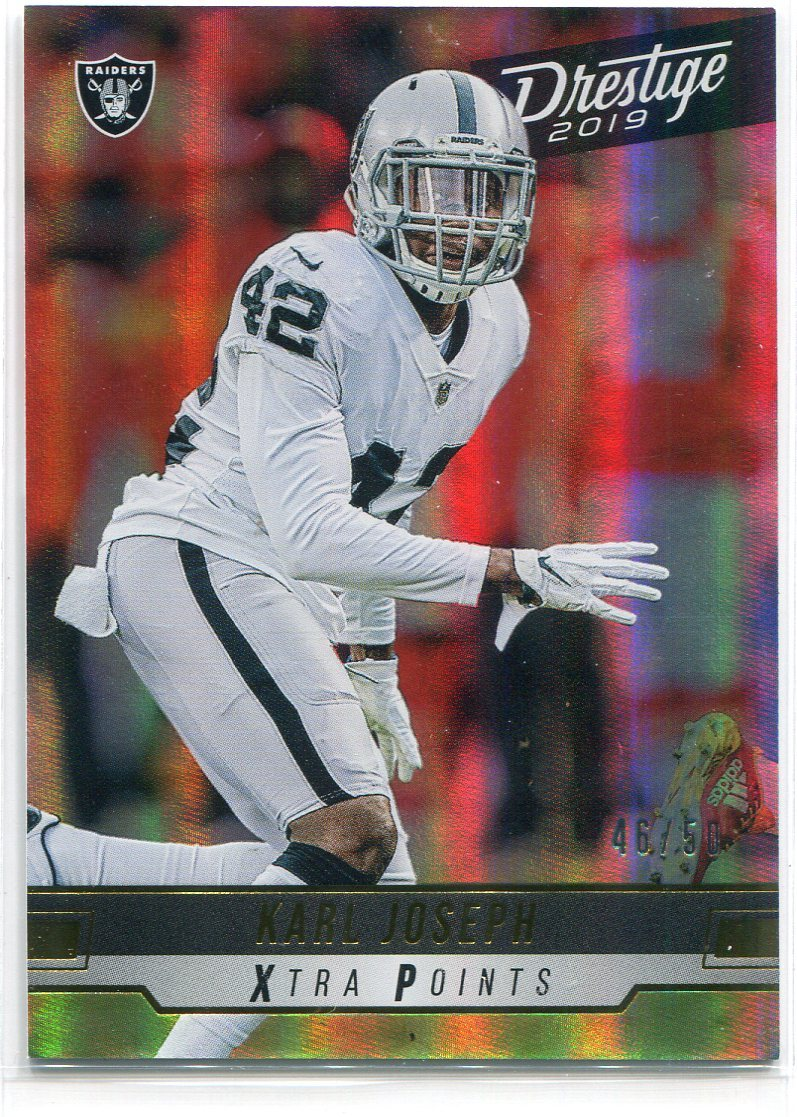 Karl Joseph 2019 Panini Prestige Xtra Points Insert Card PSM-Powers Sports Memorabilia