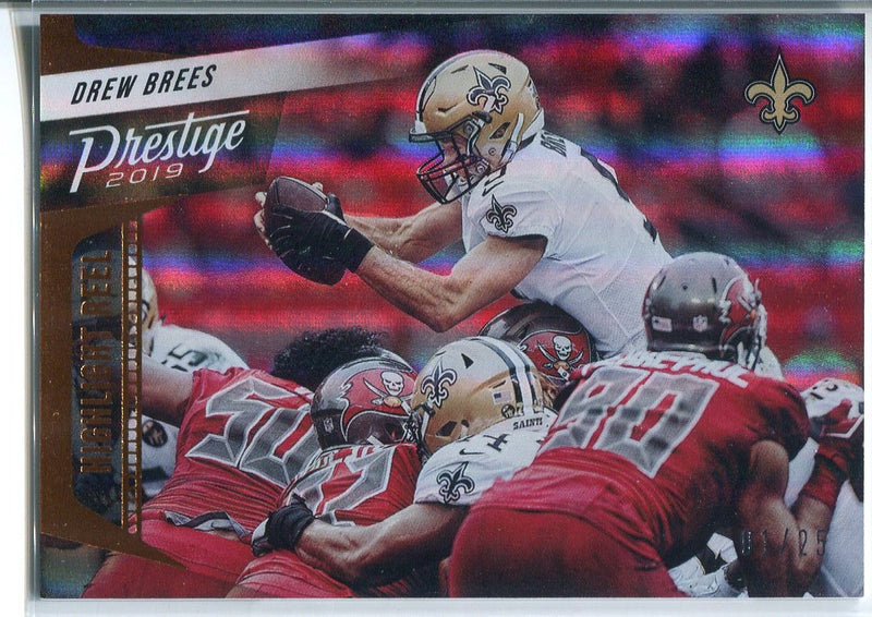 Drew Brees 2019 Panini Prestige Highlight Reel Insert Card PSM-Powers Sports Memorabilia