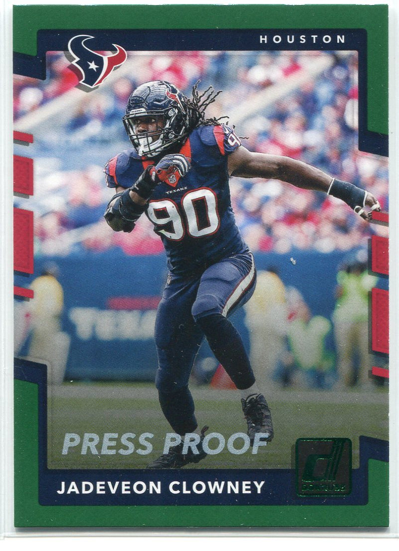 Jadeveon Clowney 2017 Panini Donruss Elite Press Proof Insert Card PSM-Powers Sports Memorabilia