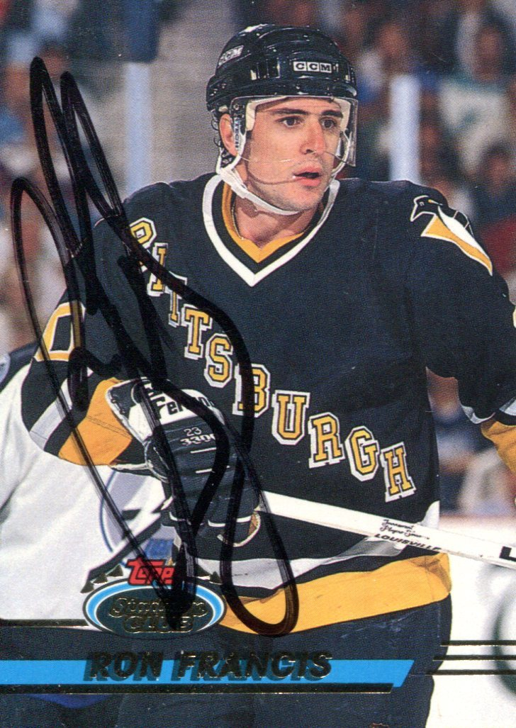 Ron Francis Autographed 1994 Topps Stadium Club Card PSM-Powers Sports Memorabilia