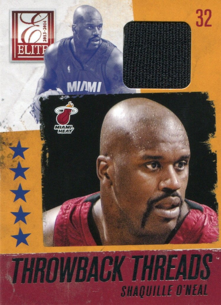 Shaquille O'Neal 2013 Panini Elite Game Used Jersey Patch Relic Card PSM-Powers Sports Memorabilia