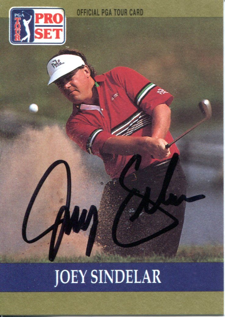 Joey Sindelar Autographed 1990 Pro Set Card PSM-Powers Sports Memorabilia