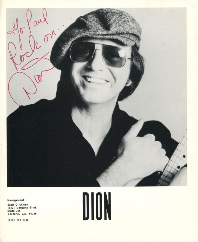 Dion Autographed 8x10 Photo PSM-Powers Sports Memorabilia