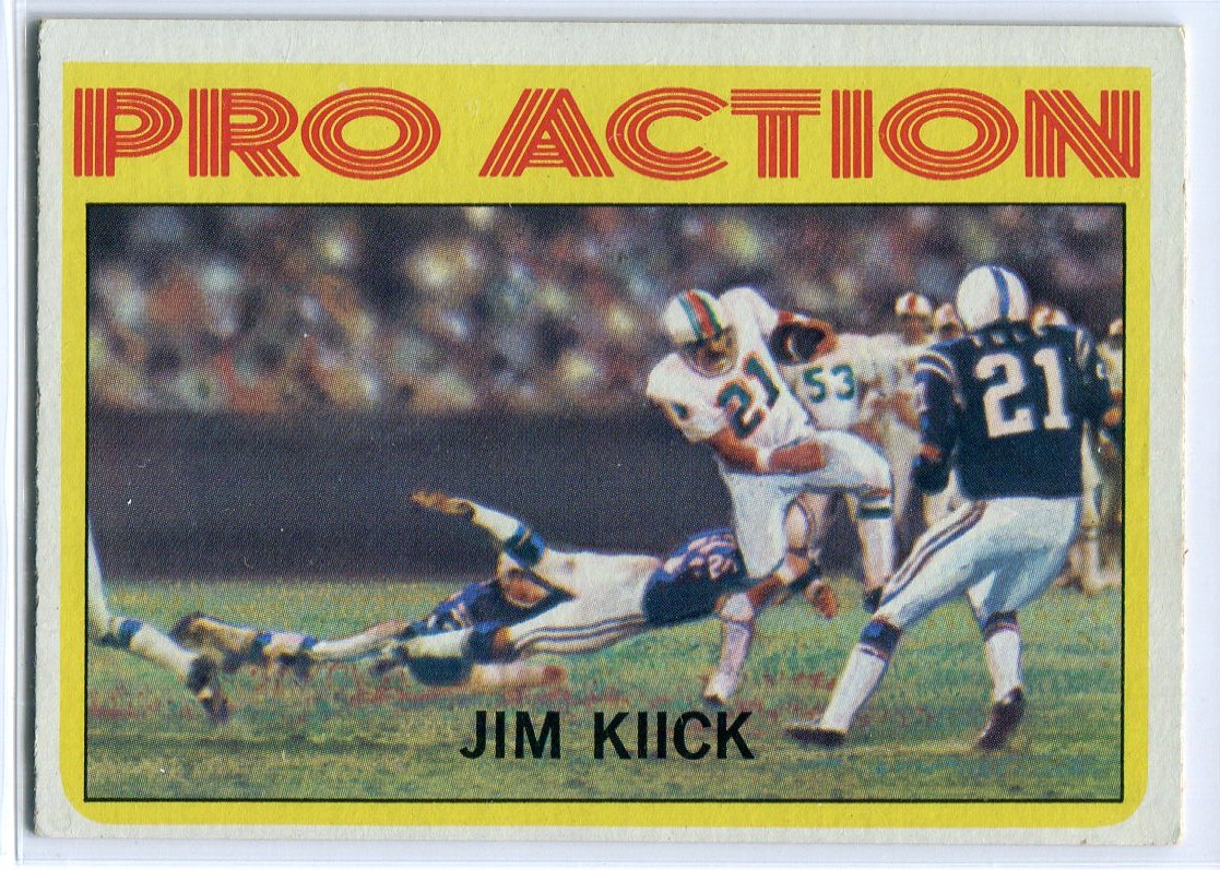Jim Kiick 1972 Topps In Action Card #121 PSM-Powers Sports Memorabilia