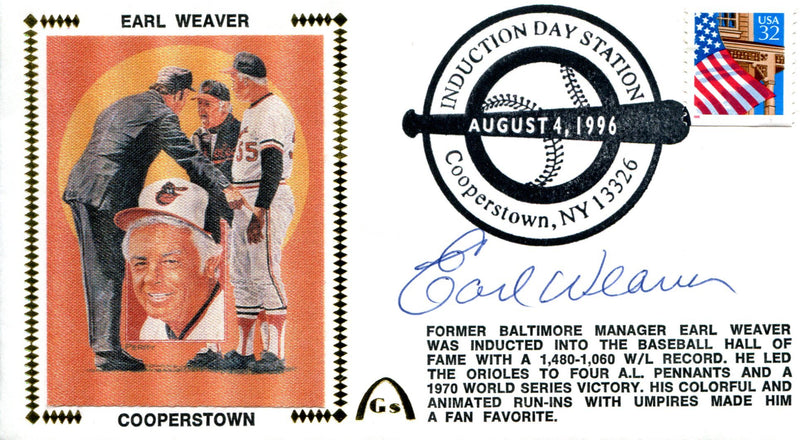 Earl Weaver Autographed First Day Cover (JSA) PSM-Powers Sports Memorabilia