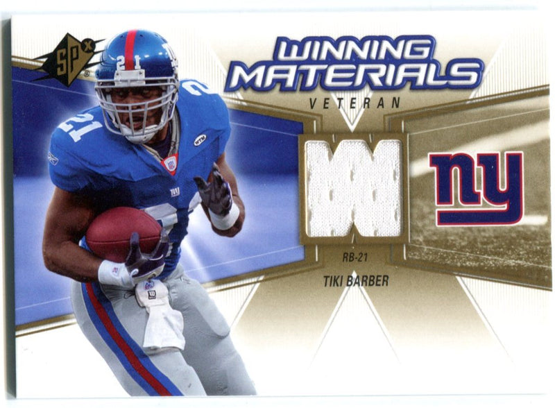 Tiki Barber 2006 Upper Deck Spx Jersey Card PSM-Powers Sports Memorabilia