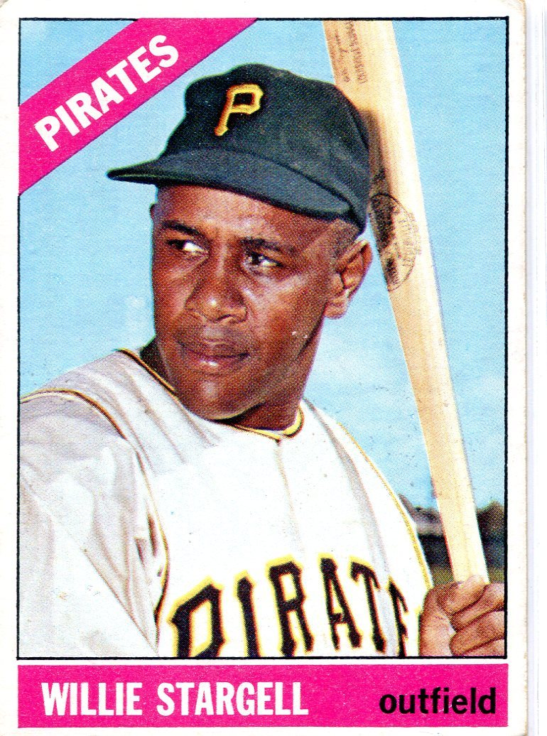 Willie Stargell 1966 Topps Card #255 PSM-Powers Sports Memorabilia
