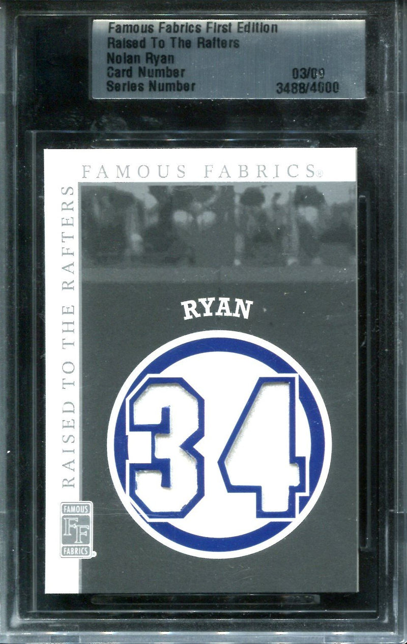Nolan Ryan Famous Fabrics First Edition #3/9 PSM-Powers Sports Memorabilia