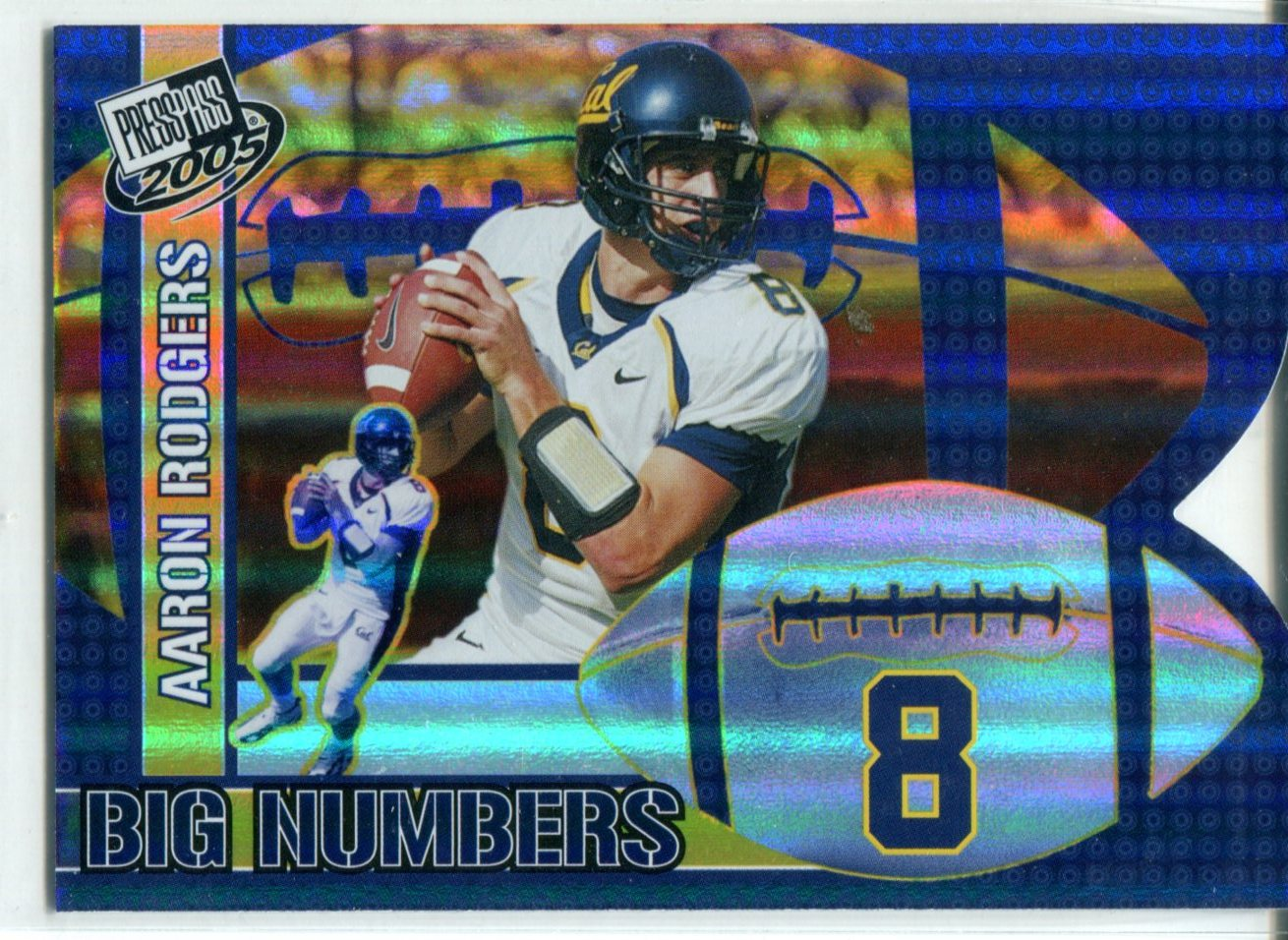 Aaron Rodgers 2005 Press Pass Big Numbers Rookie Card PSM-Powers Sports Memorabilia