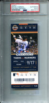 Miguel Cabrera Autographed September 17, 2013 Full Ticket (PSA) PSM-Powers Sports Memorabilia