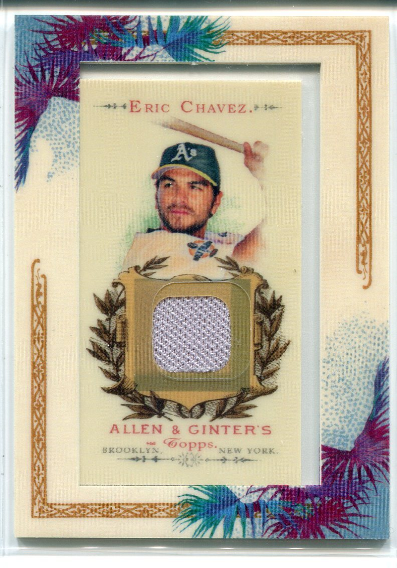 Eric Chavez 2007 Topps Allen & Ginter Jersey Card PSM-Powers Sports Memorabilia