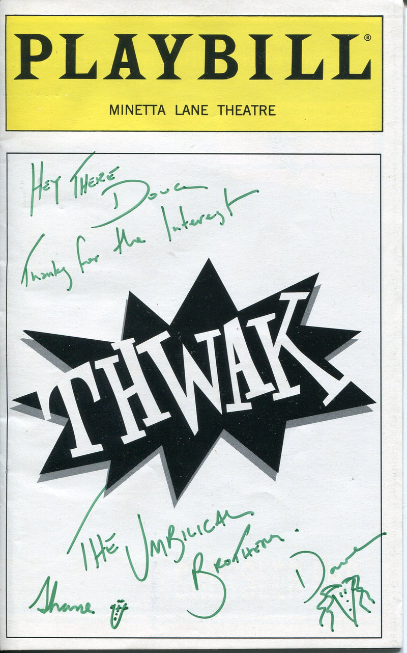 David Collins & Shane Dundas Autographed Thwak Playbill Program PSM-Powers Sports Memorabilia