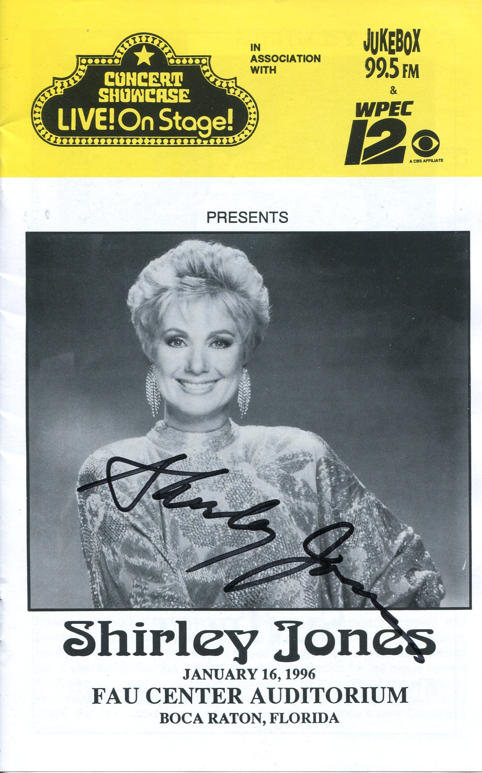Shirley Jones Autographed Concert Showcase Live! On Stage Program PSM-Powers Sports Memorabilia