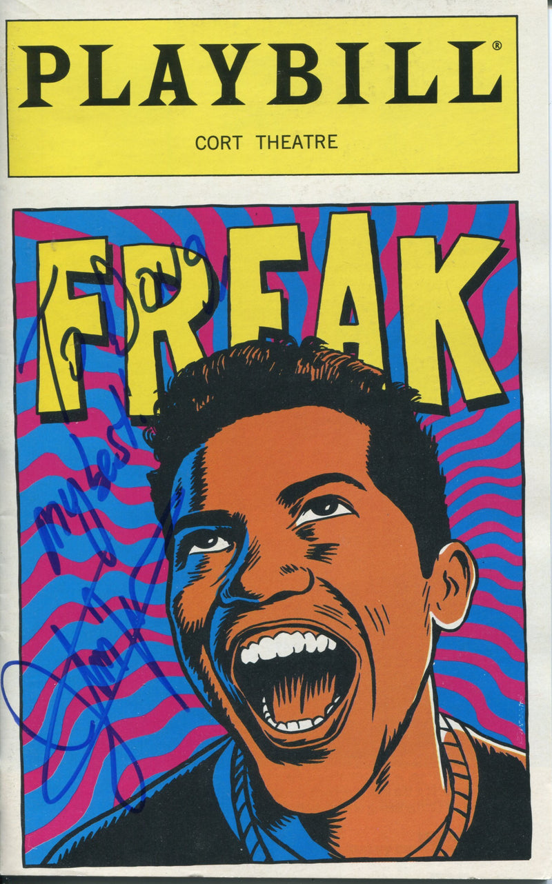 John Leguizamo Autographed Freak Playbill Program PSM-Powers Sports Memorabilia