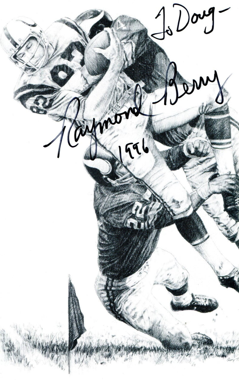 Raymond Berry Autographed Postcard PSM-Powers Sports Memorabilia