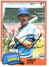 Amos Otis Autographed 1981 Topps Card PSM-Powers Sports Memorabilia