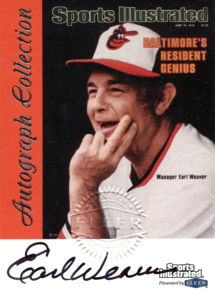 Earl Weaver Autographed 1999 Fleer Sports Illustrated Card PSM-Powers Sports Memorabilia