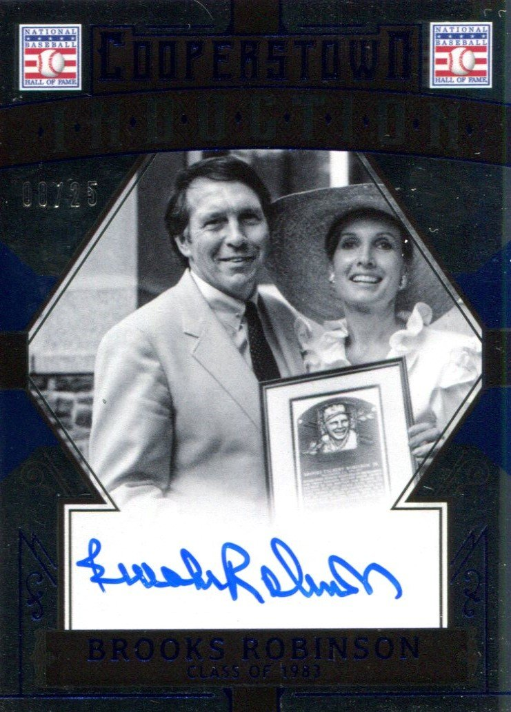 Brooks Robinson Autographed 2015 Panini Cooperstown Induction Card PSM-Powers Sports Memorabilia