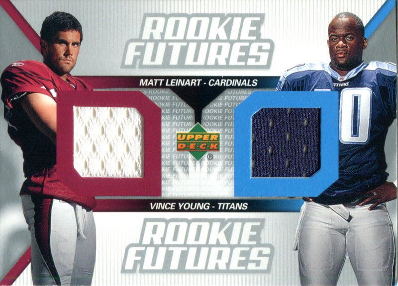 Matt Leinart & Vince Young 2006 Upper Deck Rookie Futures Jersey Card PSM