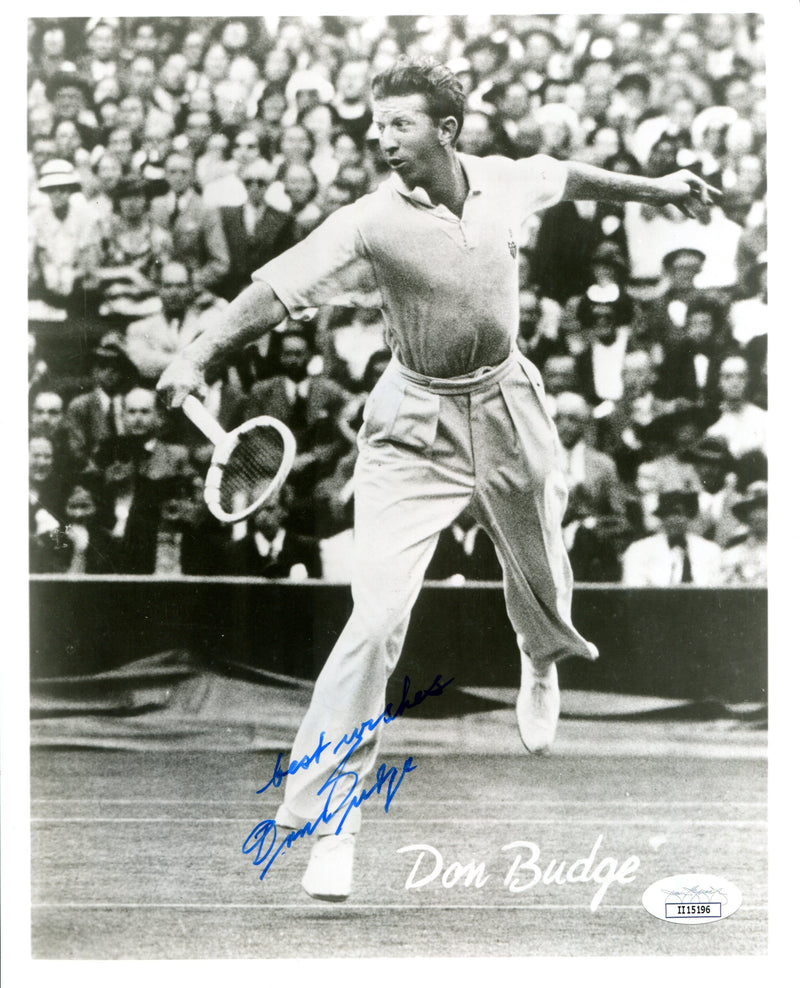 Don Budge Autographed 8x10 Photo (JSA) PSM-Powers Sports Memorabilia