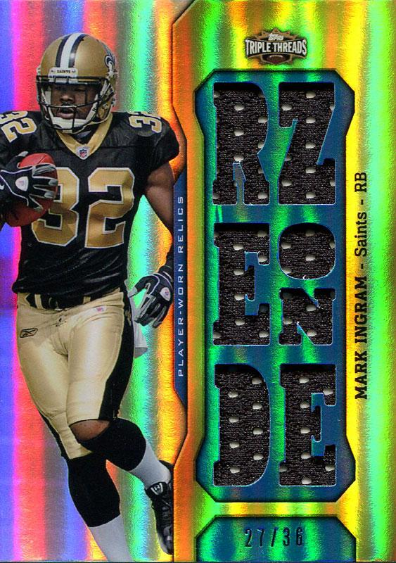 Mark Ingram Unsigned 2011 Topps Triple Threads Jersey Card PSM-Powers Sports Memorabilia