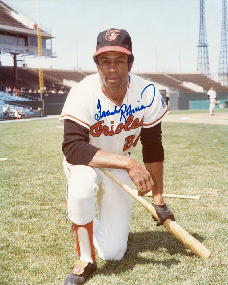 Frank Robinson Autographed Baltimore Orioles 8x10 Photo PSM-Powers Sports Memorabilia