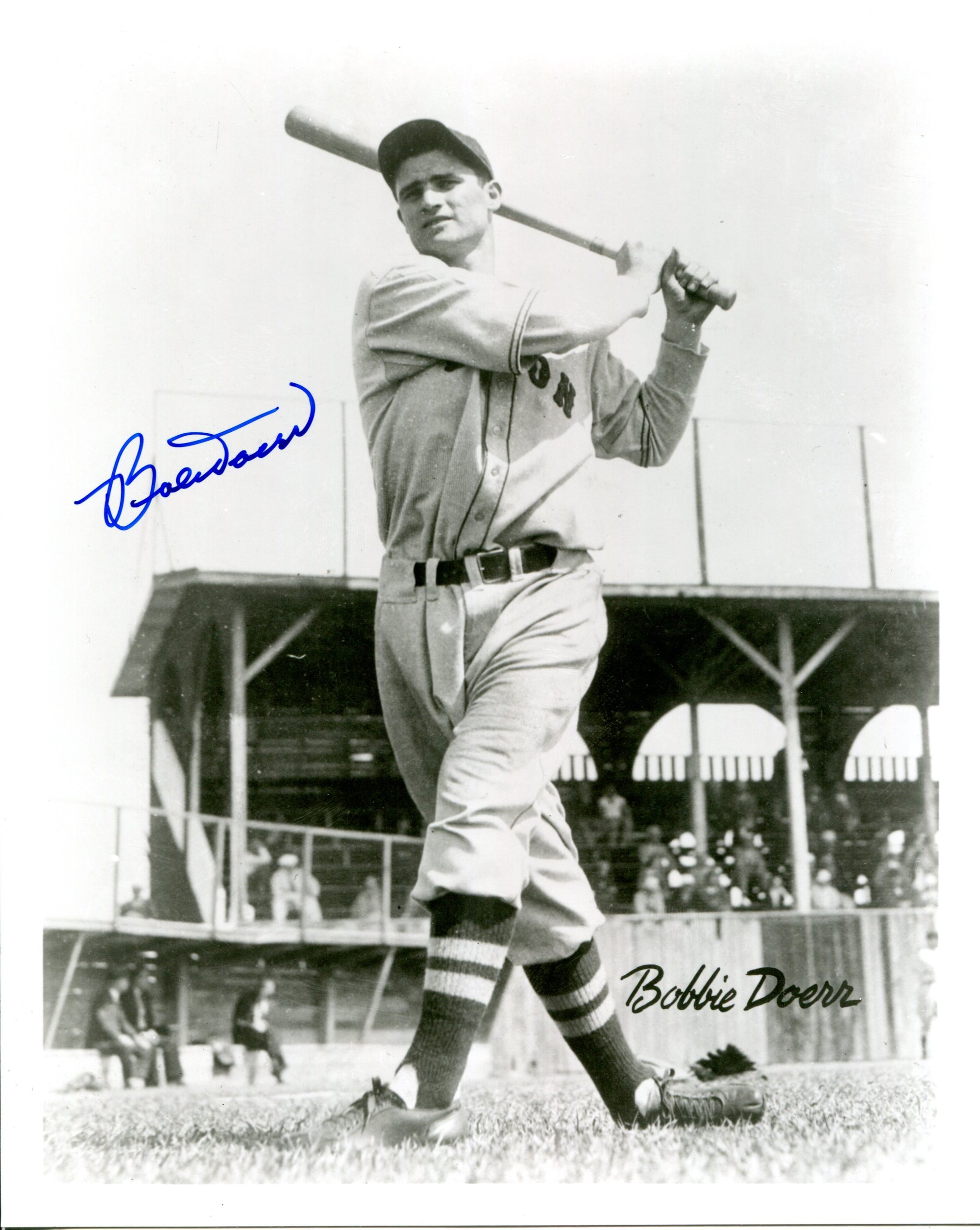 Bobby Doerr Autographed B&W 8x10 Photo PSM-Powers Sports Memorabilia