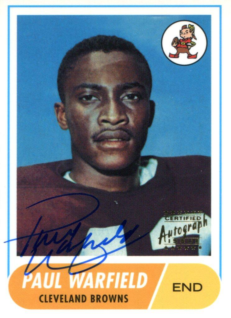 Paul Warfield Autographed 1998 Topps Card PSM-Powers Sports Memorabilia