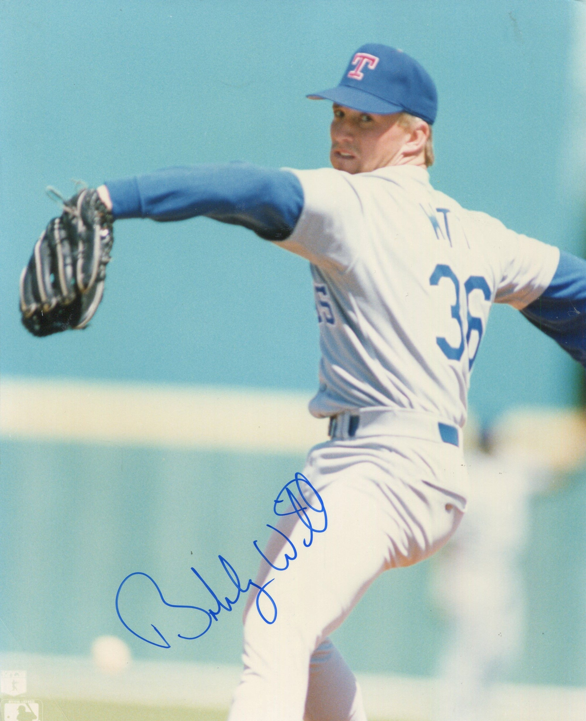 Bobby Witt Texas Rangers Autographed 8x10 Baseball Photo PSM-Powers Sports Memorabilia