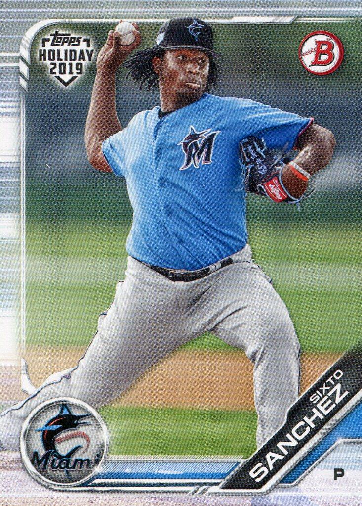 Sixto Sanchez 2019 Topps Holiday Bowman Rookie Card PSM-Powers Sports Memorabilia