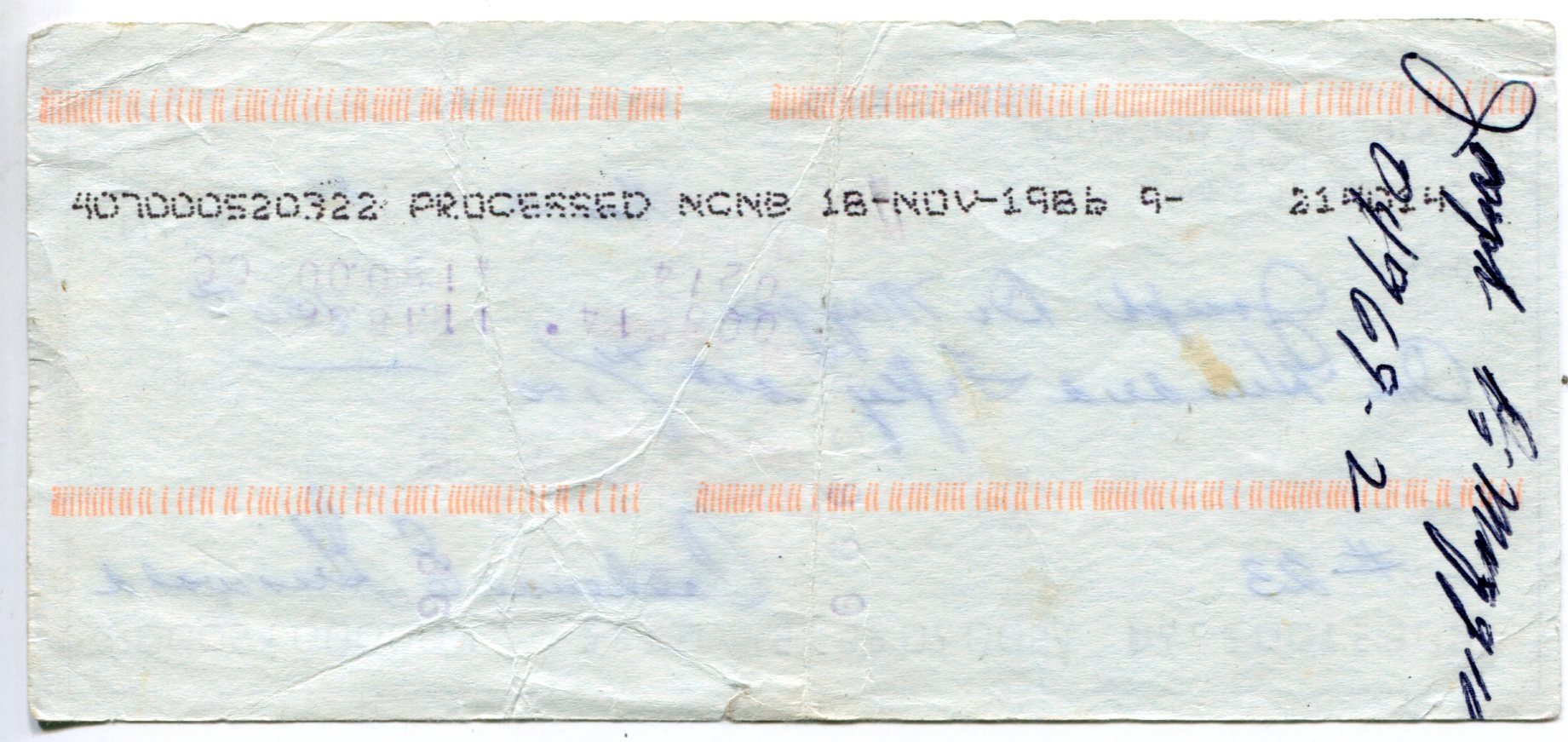 Joe DiMaggio Autographed Endorsed Check PSM-Powers Sports Memorabilia