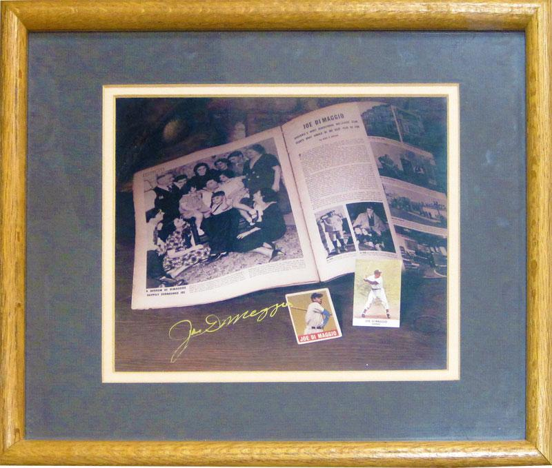 Joe DiMaggio Autographed Framed 8x10 Photo PSM-Powers Sports Memorabilia