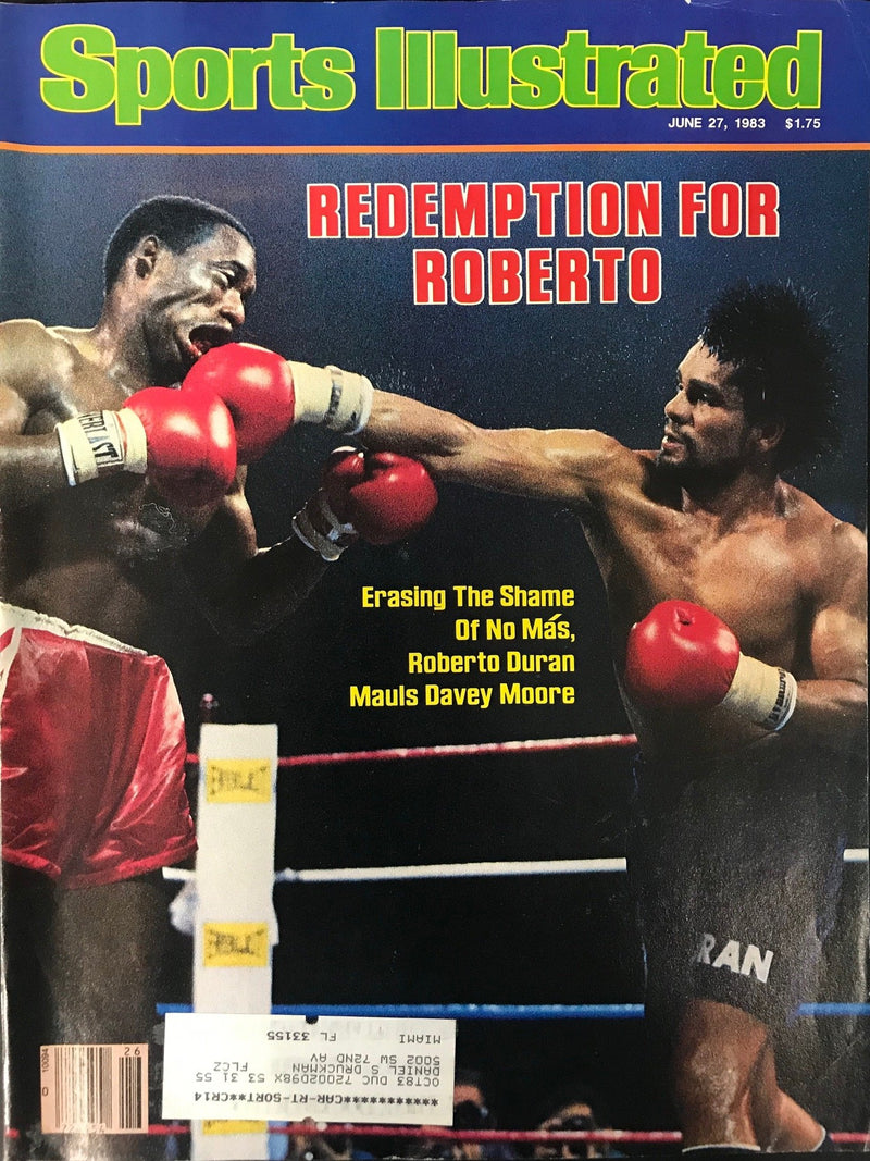 Roberto Duran & Davey Moore Unsigned Sports Illustrated Magazine June 27 1983 PSM-Powers Sports Memorabilia