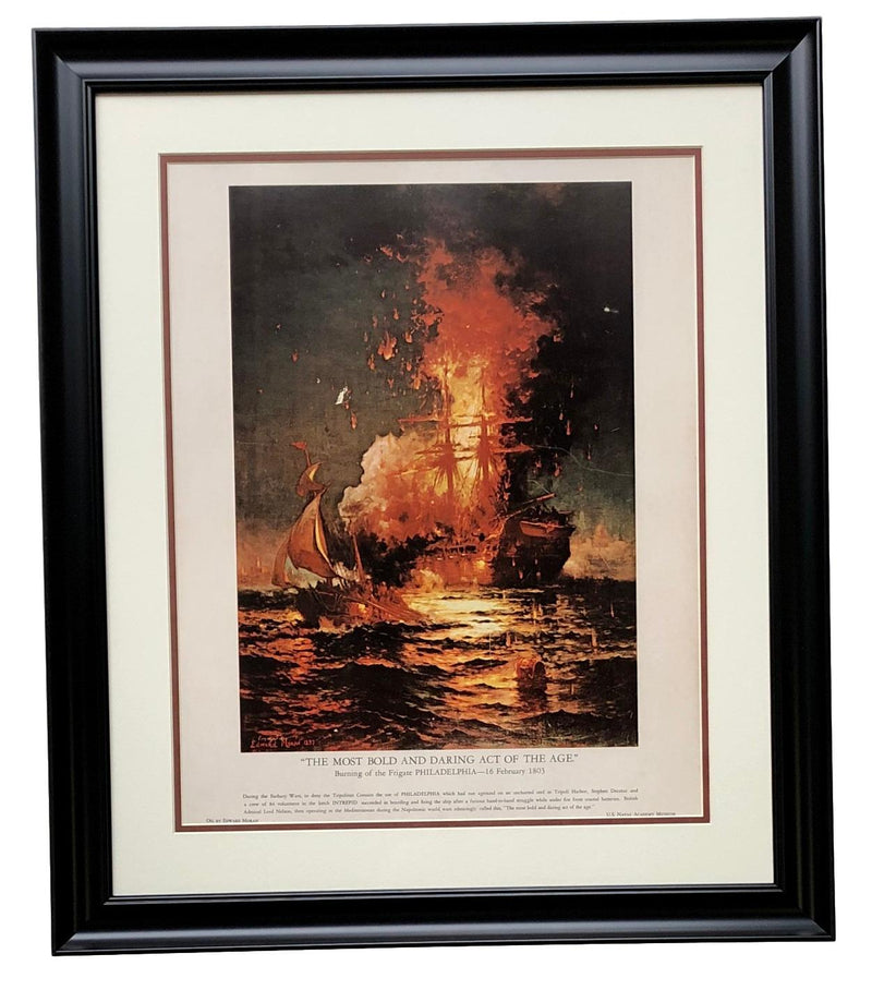 The Most Bold And Daring Act Of The Age Framed 16x20 Litho U.S. Philadelphia PSM-Powers Sports Memorabilia