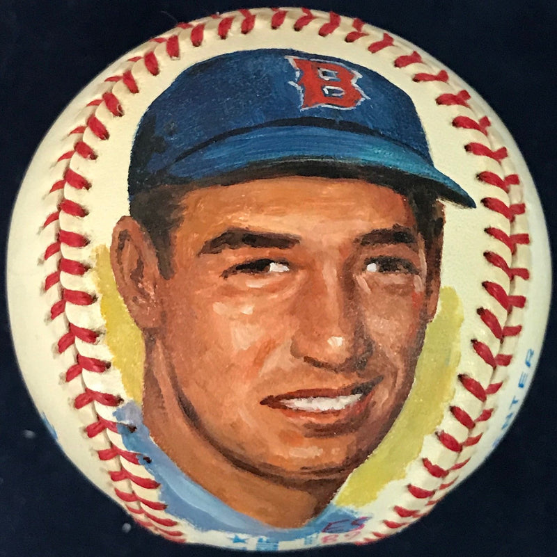 Ted Williams Unsigned Hand Painted Official Baseball PSM-Powers Sports Memorabilia