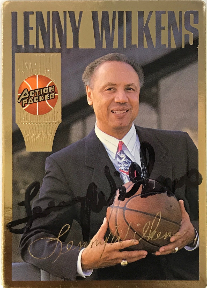 Lenny Wilkens Signed 1994 Action Packed Card PSM-Powers Sports Memorabilia