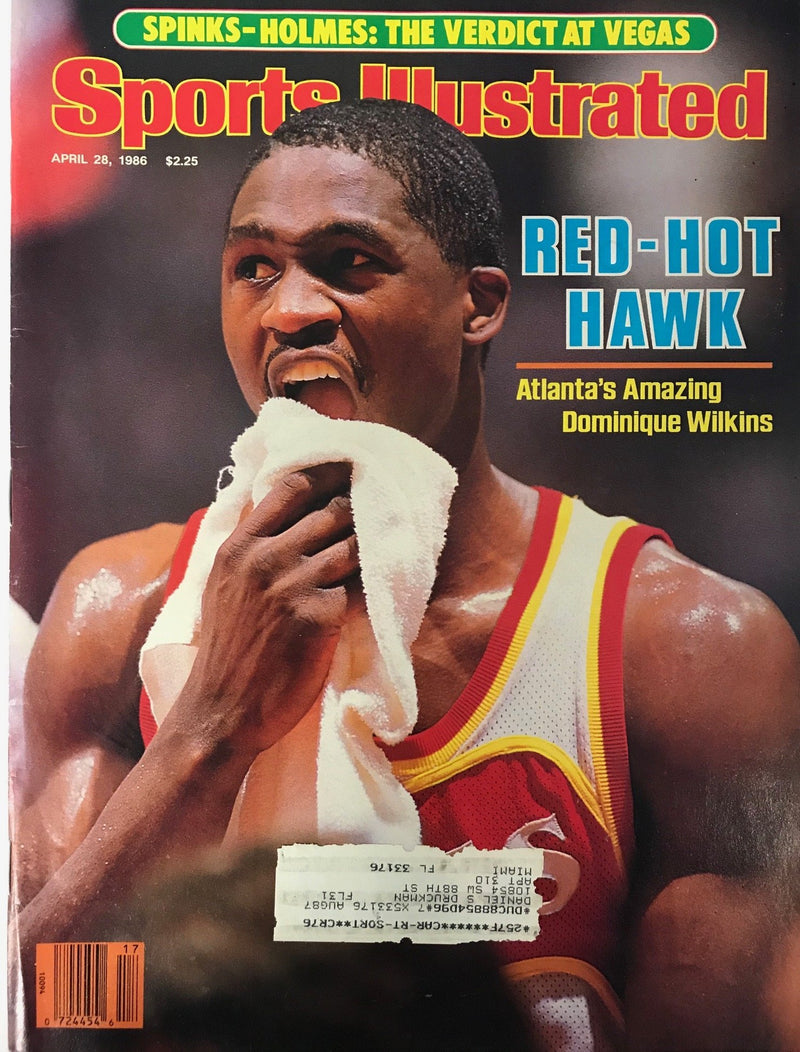 Dominique Wilkins Unsigned Sports Illustrated April 28 1986 PSM-Powers Sports Memorabilia