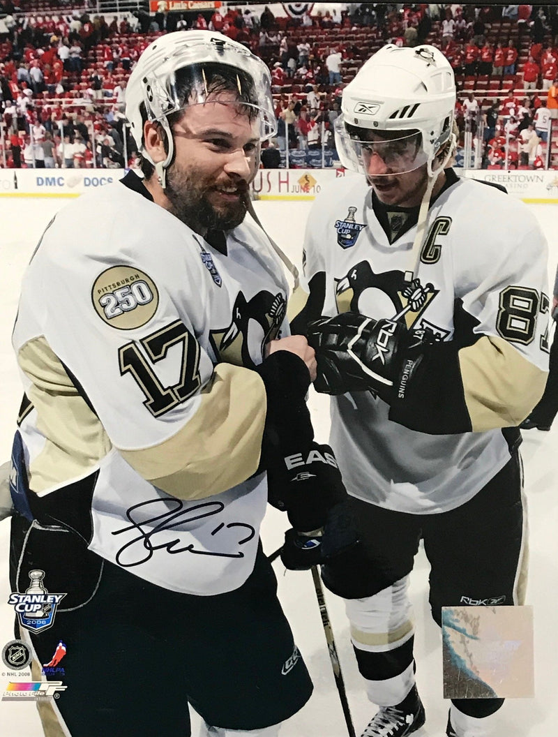 Petr Sykora Signed 8x10 Photo Pittsburgh Penguins PSM-Powers Sports Memorabilia