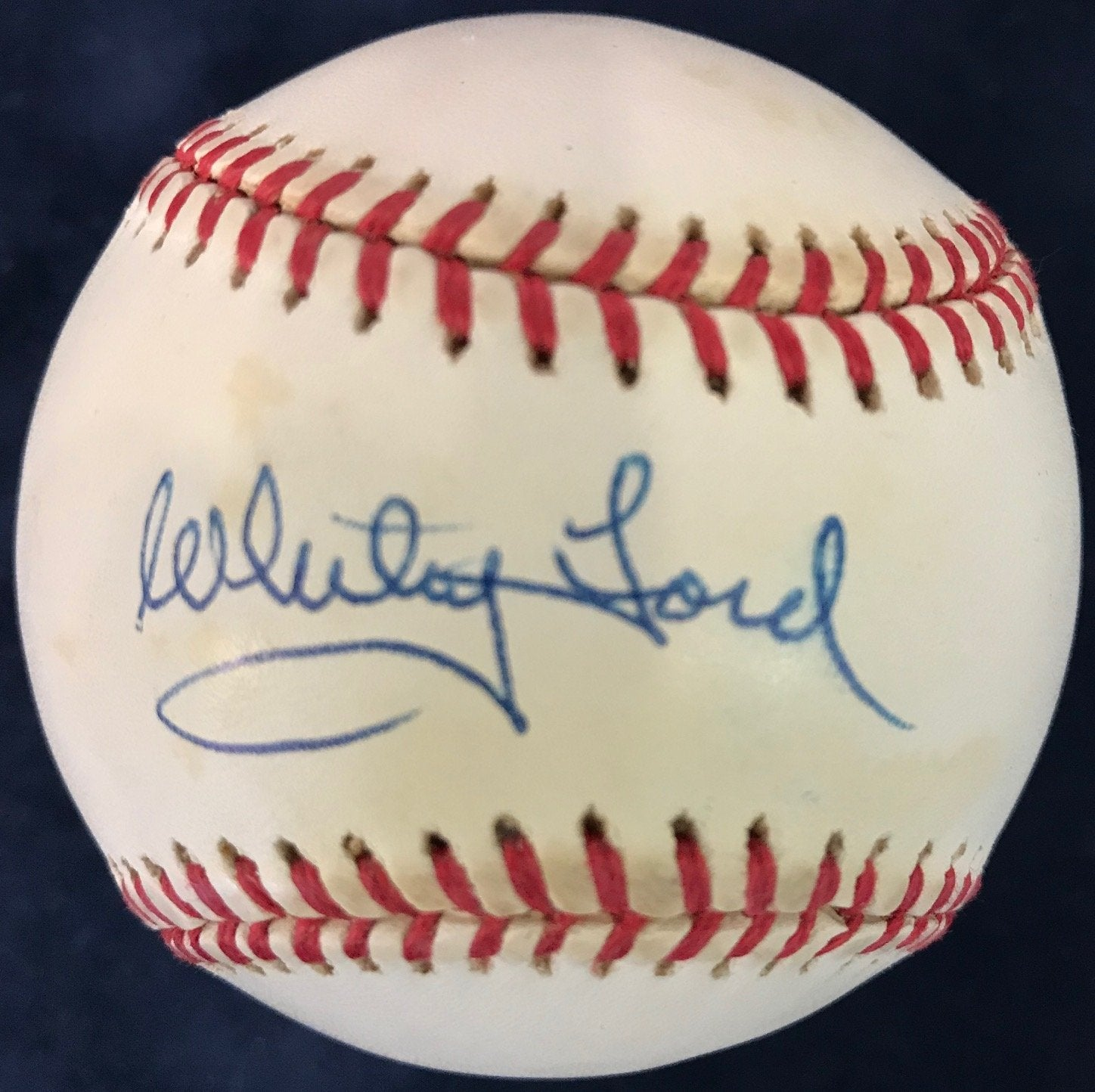 Whitey Ford Signed Official American League Baseball PSM-Powers Sports Memorabilia